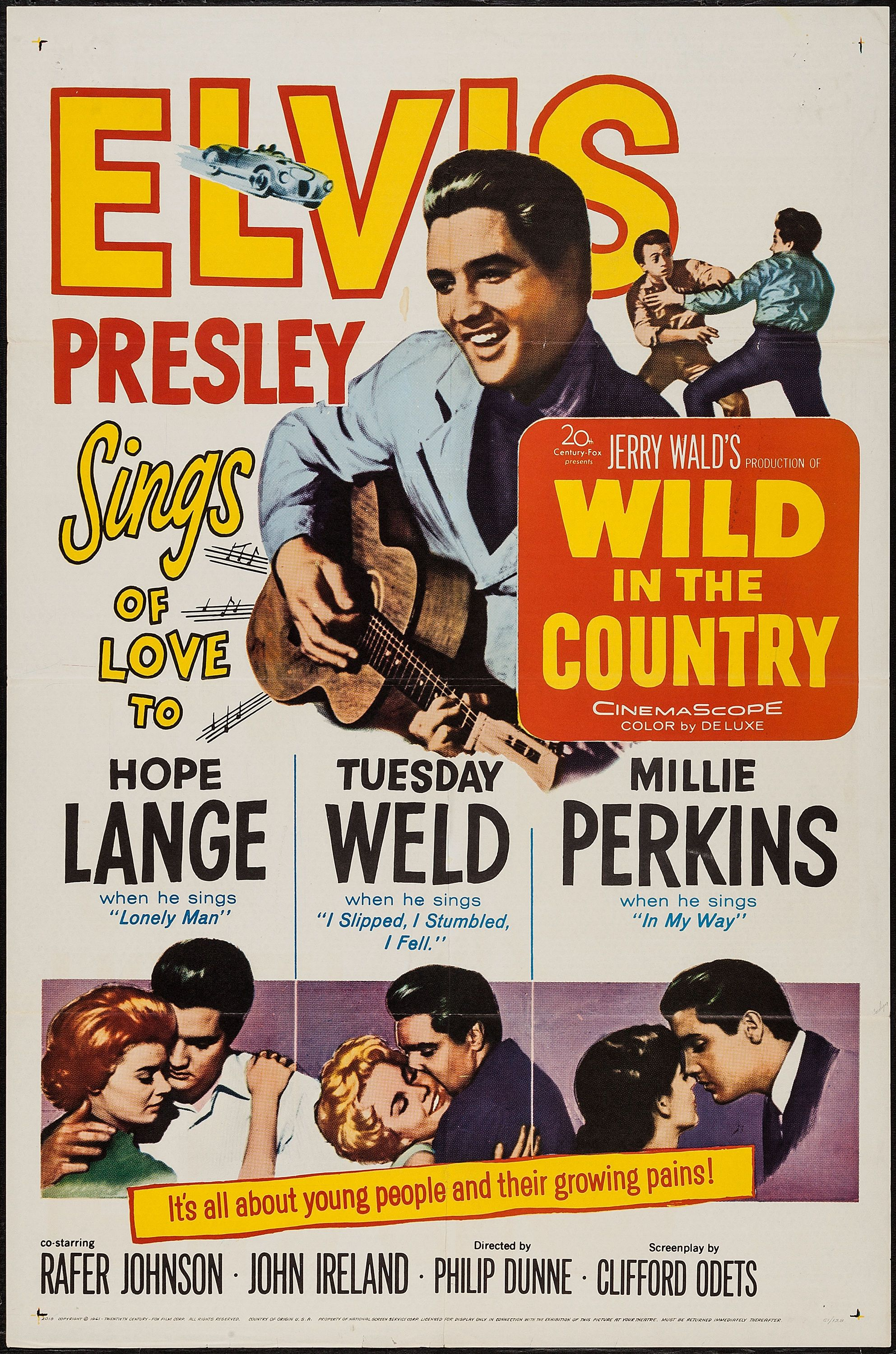 wild in the country (1961) stars: elvis presley, hope lange, tuesday