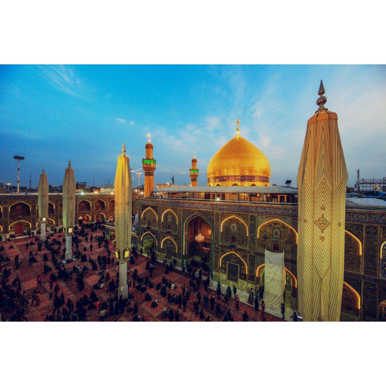 مرقد الامام علي بن ابي طالب وادم ونوح عليهم السلام بمدينه النجف الاشرف بالعراق Building Taj Mahal Landmarks