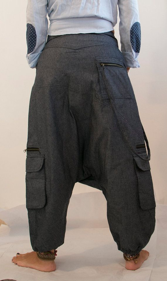 01ca8b00f1c5 Aladdin pants known as Harem or Afghani trousers are very comfy. Our  stylish denim harem