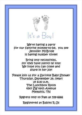 3rd Baby Boy Shower Invitations Wording Boy Footprints Invitations For Baby Boy Sprinkle Baby Shower Invitation Wording Boy Baby Shower Invitations For Boys