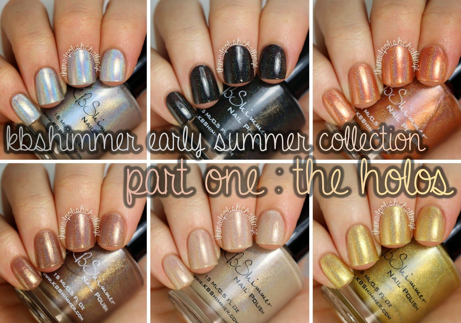the nail polish challenge: KBShimmer Early Summer 2014 Collection, Part 1: The Holos