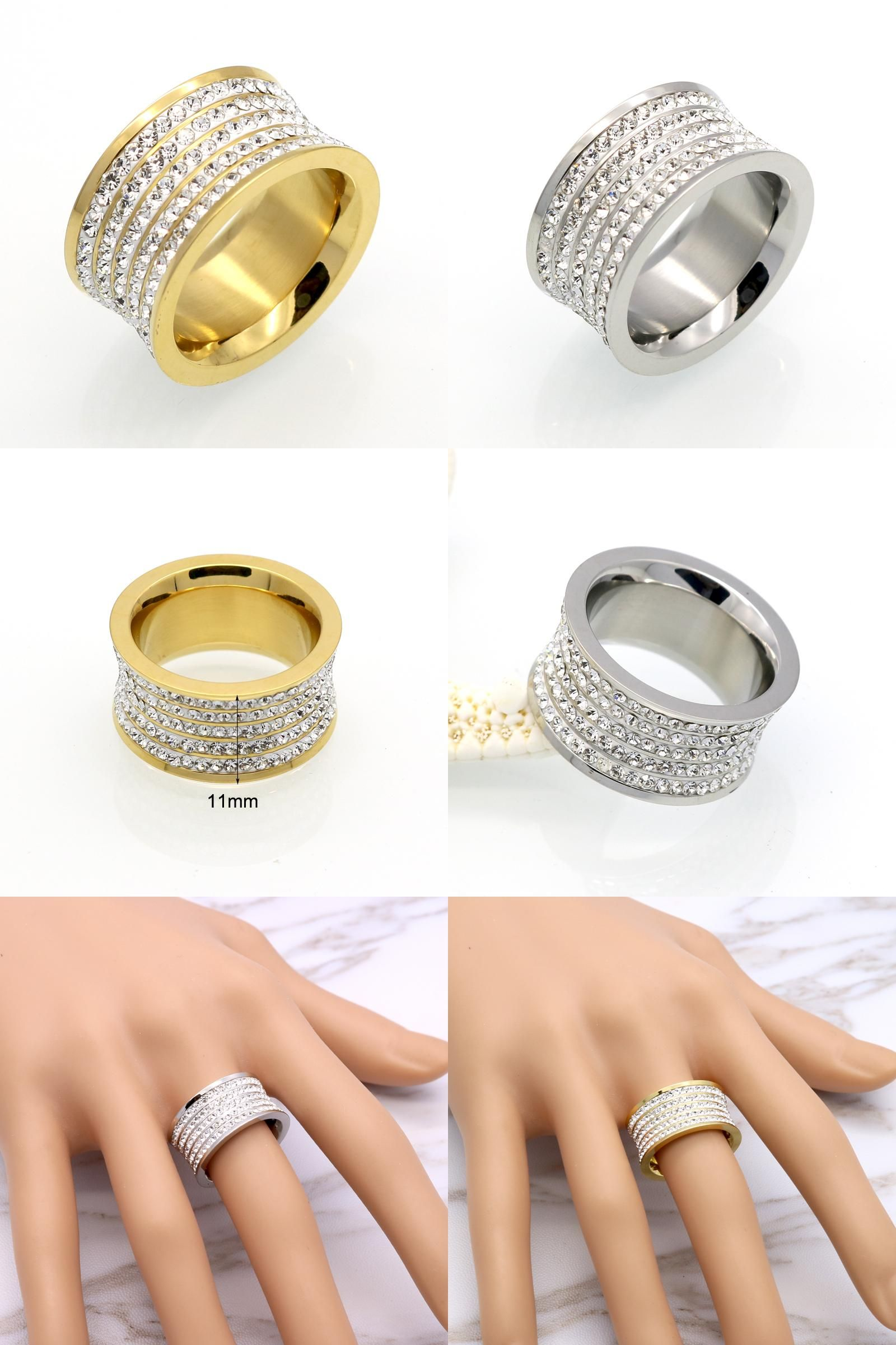 Visit To Buy 5 Row Brand Crystal Jewelry Fashoin Women Men Unisex Luxury 11mm: 11 Mm Wedding Bands At Reisefeber.org