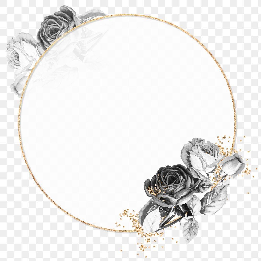 Gold Frame With Black Roses Design Element Free Image By Rawpixel Com Ningzk V Black Rose Flower Flower Border Png Gold Frame
