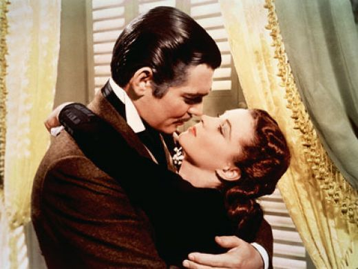 "Scarlett: ""Rhett, Rhett! Rhett, Rhett... Rhett, if you go, where shall I go? What shall I do?  Rhett: Frankly, my dear, I don't give a damn."""