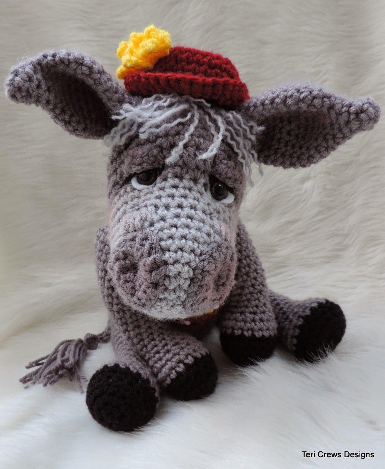 Donkey crochet pattern crochet donkey donkey pattern | Etsy | 1600x1314