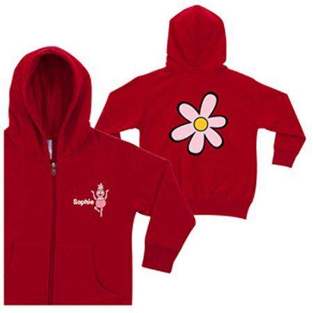 Personalized Yo Gabba Gabba! Foofa Red Zip Up Toddler Girls
