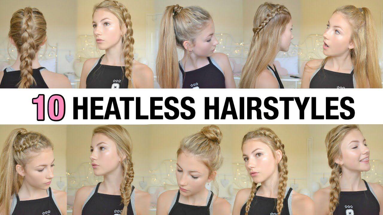 10 Back To School Heatless Hairstyles Youtube Heatless Hairstyles Back To School Hairstyles Easy Hairstyles