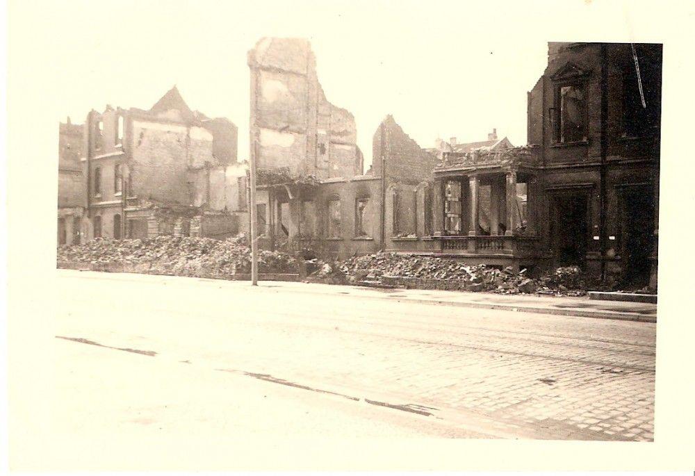 HANNOVER Mitte 1943 Georgstraße zerbombt hanover germany bombing ww2   HANNOVER IN TRÜMMERN ...
