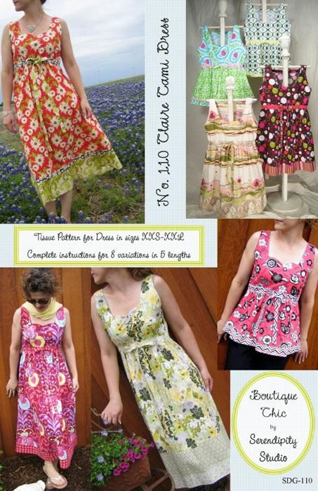 Serendipity Claire Cami Dress Pattern   Sewing Patterns to Buy ...