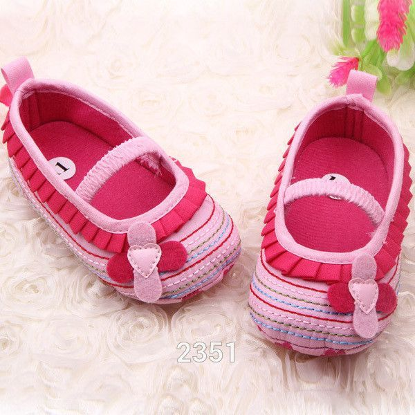 Cotton Cloth First Walker Four-Flower Baby Girl Striped Sole Shoes for Kids Cute Toddler Shoe Free Shipping