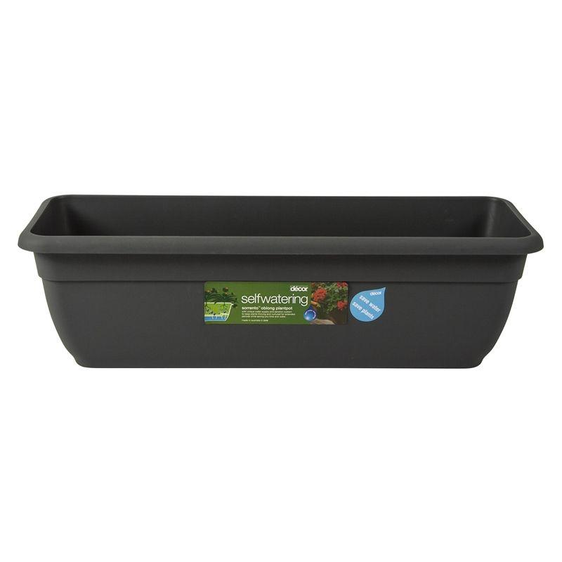 Decor 600mm Sorrento Pewter Self Watering Plastic Pot I/N 2940268 ...