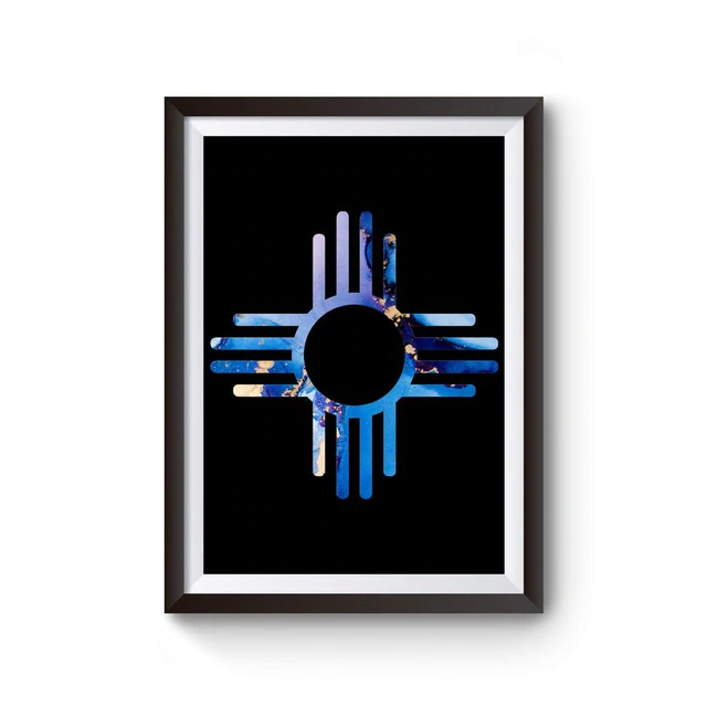 Zia Symbol Poster Poster On Poster Fine Art Paper