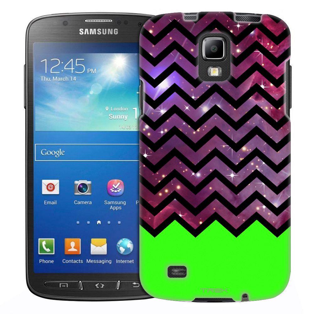 Samsung Galaxy S4 Active Nebula Multicolor Cross on Black Slim Case
