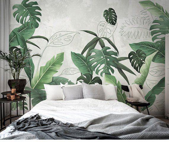 Southeast Asian rainforest plant wall murals wall decor, green leaves shrub wallpaper mural, tropical landscape wallpaper#asian #decor #green #landscape #leaves #mural #murals #plant #rainforest #shrub #southeast #tropical #wall #wallpaper