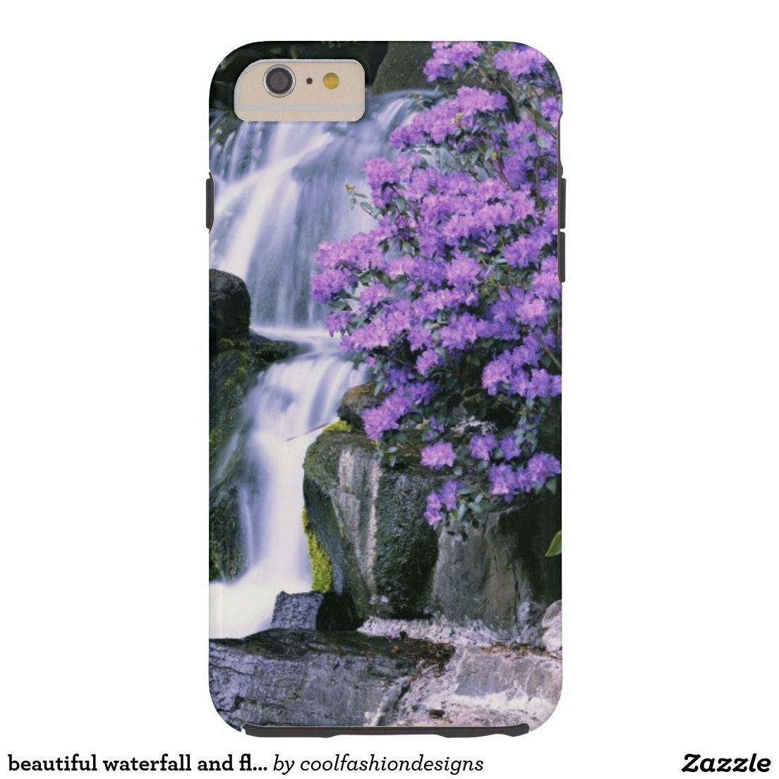 beautiful waterfall and flowers case in 2019