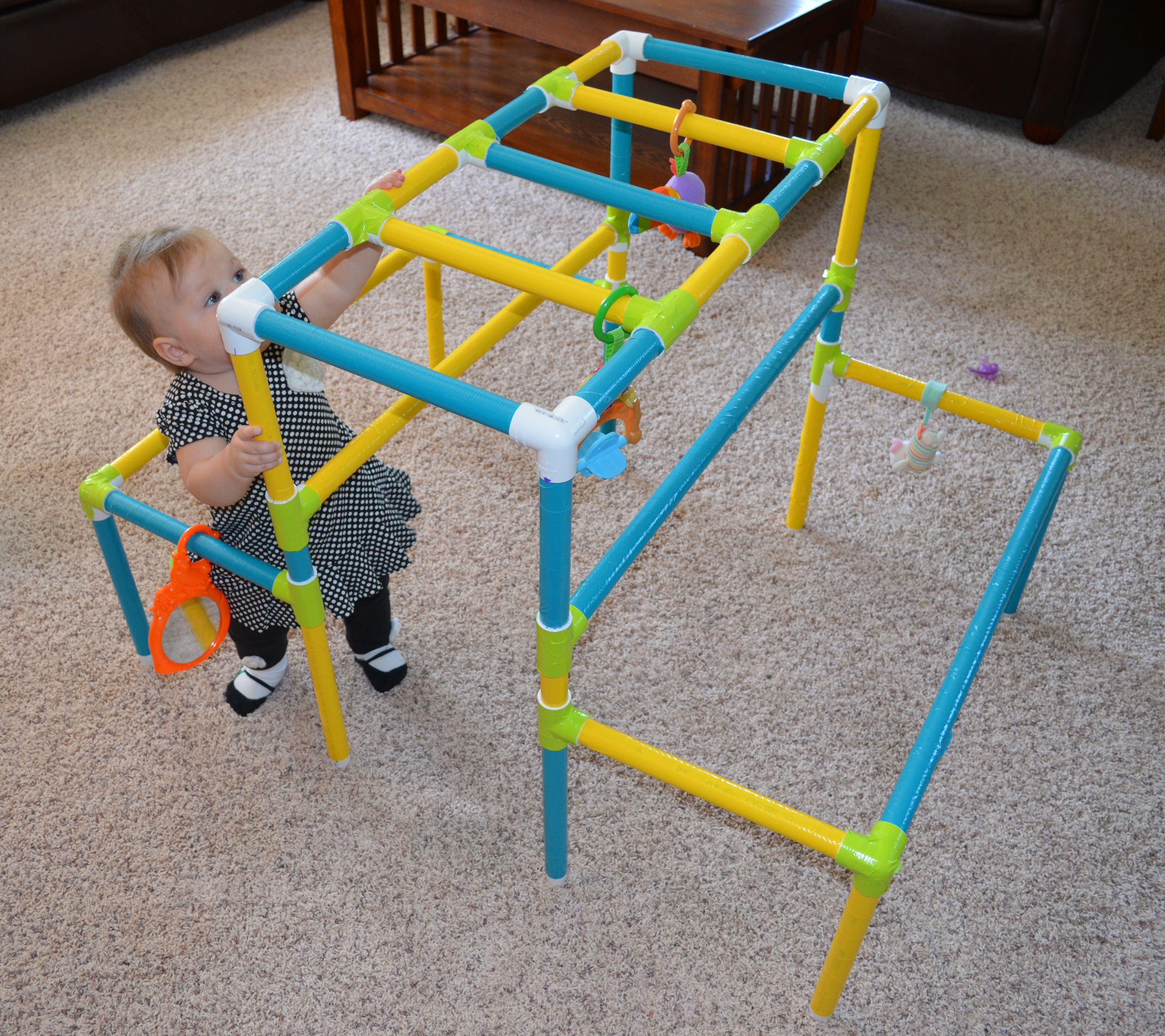 Our granddaughter loves her jungle gym Baby