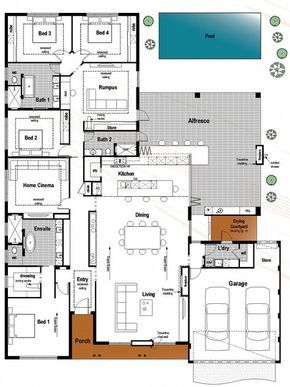 Floor plan friday bedroom bathroom with modern skillion roof also best home plans images house dream rh pinterest