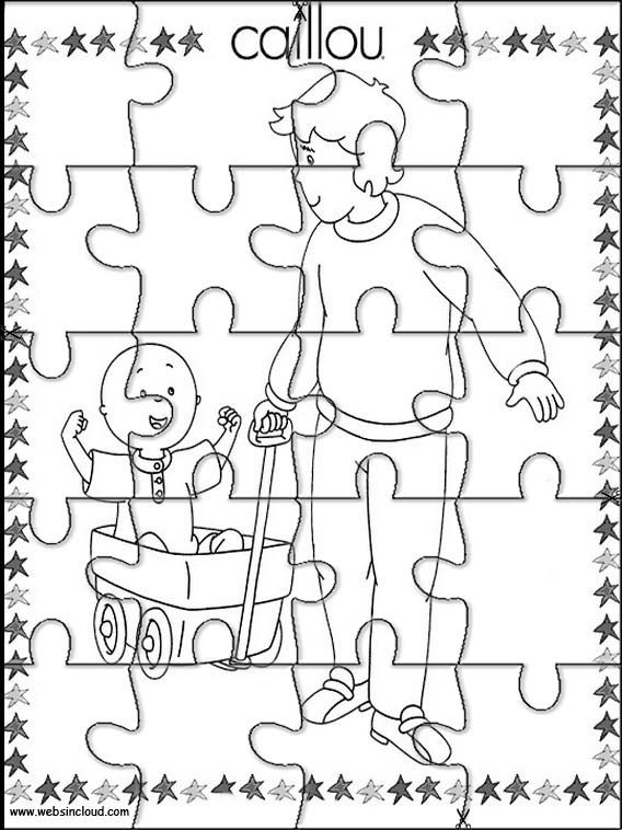 Printable jigsaw puzzles to cut out for kids Caillou 2 Coloring ...
