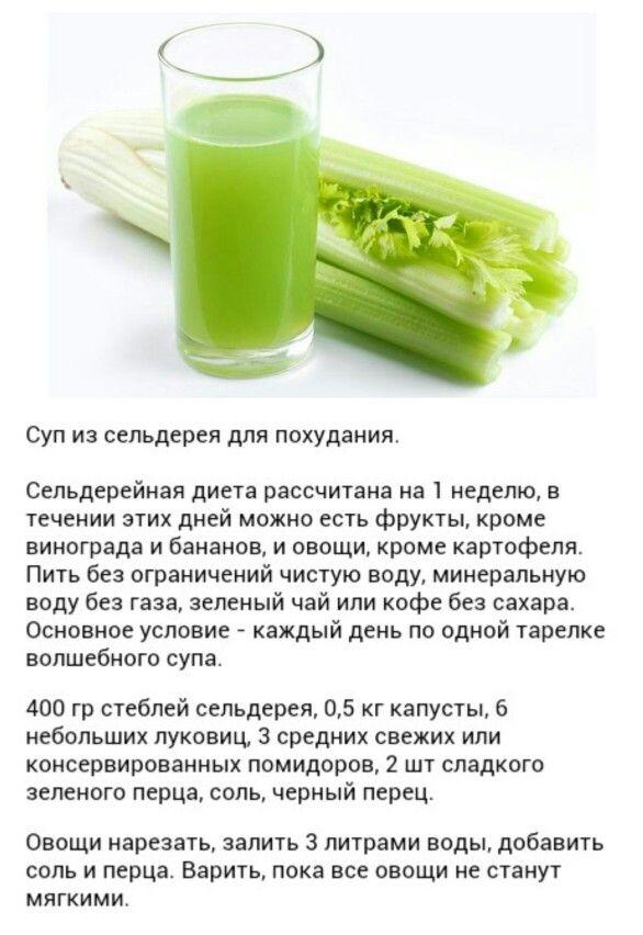 Сельдереевая диета на 7 дней отзывы