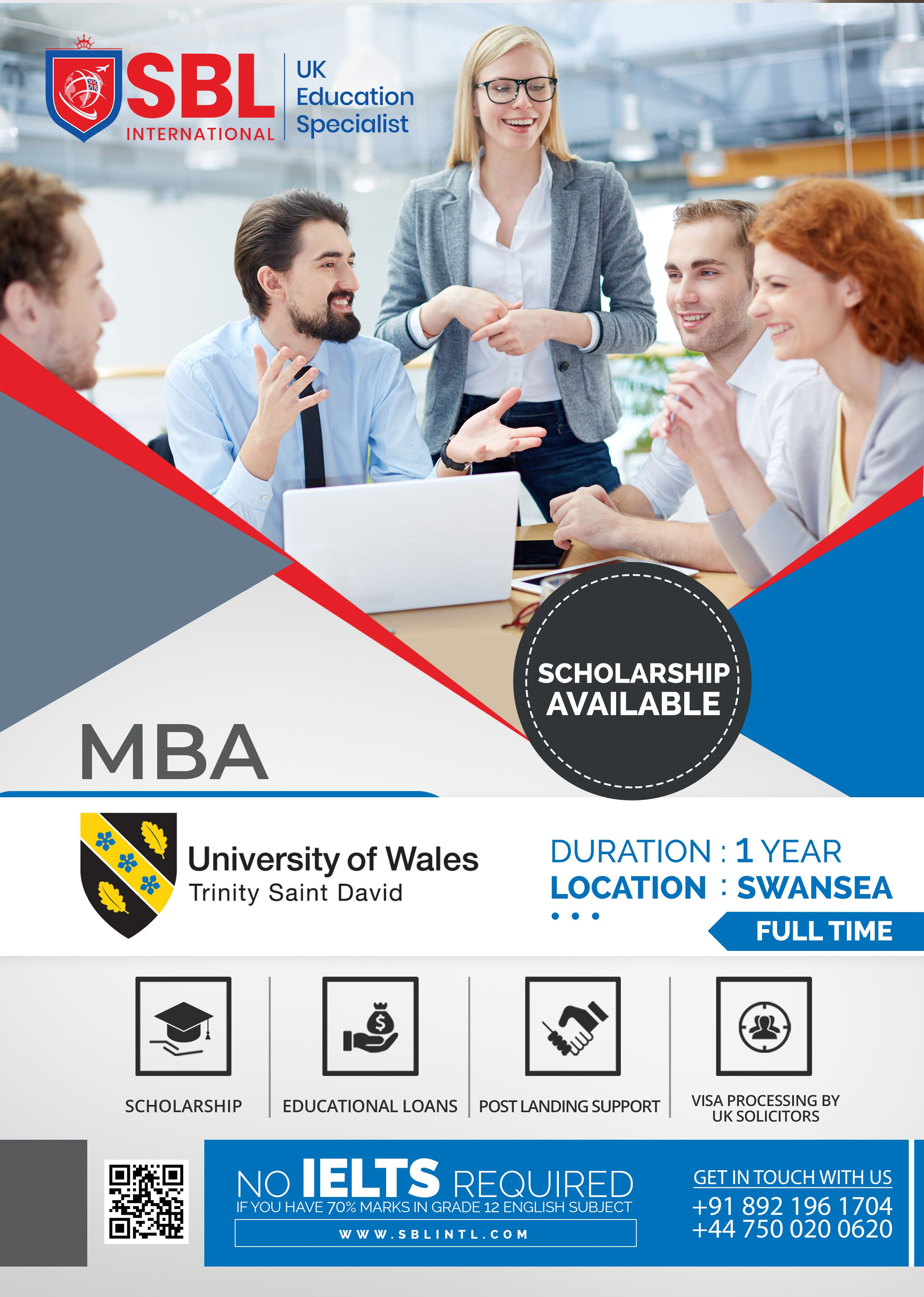Master Of Business Administration University Of Wales Location Swansea Duration 1 Year Uk Education Overseas Education