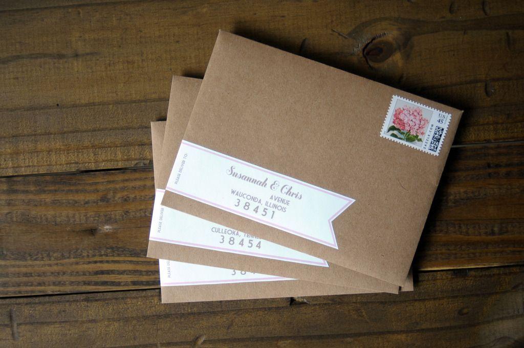 Briefumschlag Basteln Einladungen Hochzeit