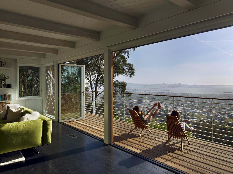 Stunning mid century modern home renovation in Berkeley Hills   Berkeley hills, Balcony design ...