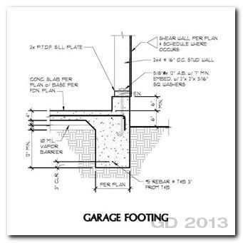Garage thickened slab with wall detail google search for Garage slab thickness