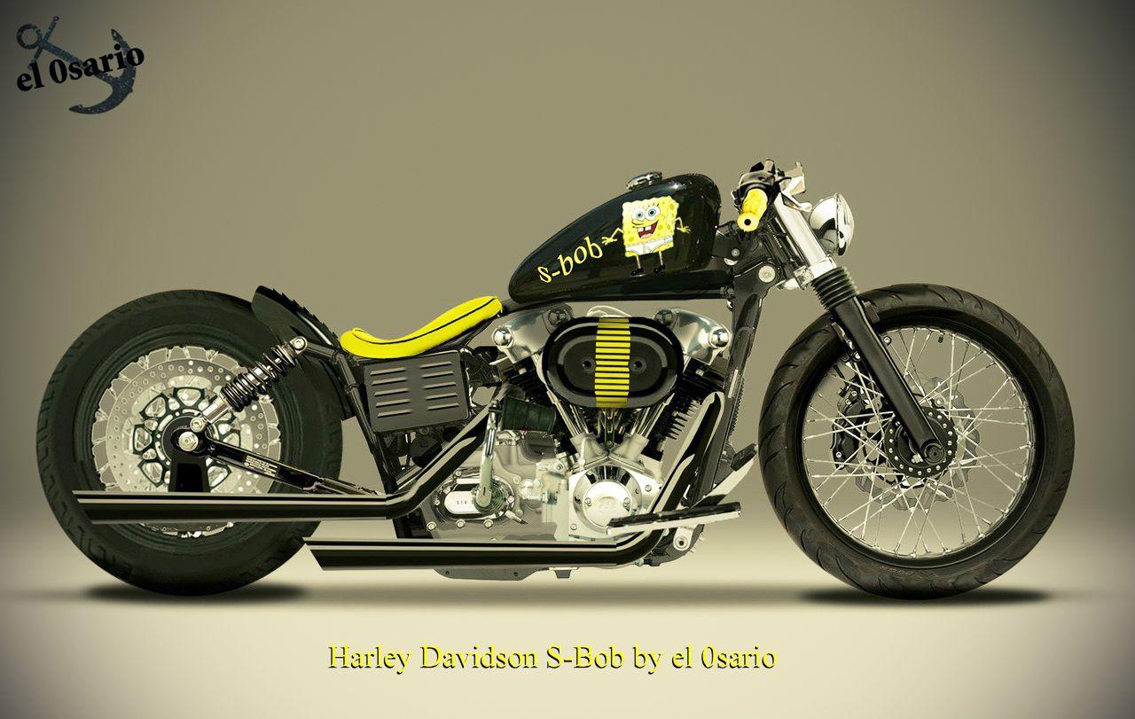 Unreal Kustom Bikes Harley Davidson Harley Bobber Bikes
