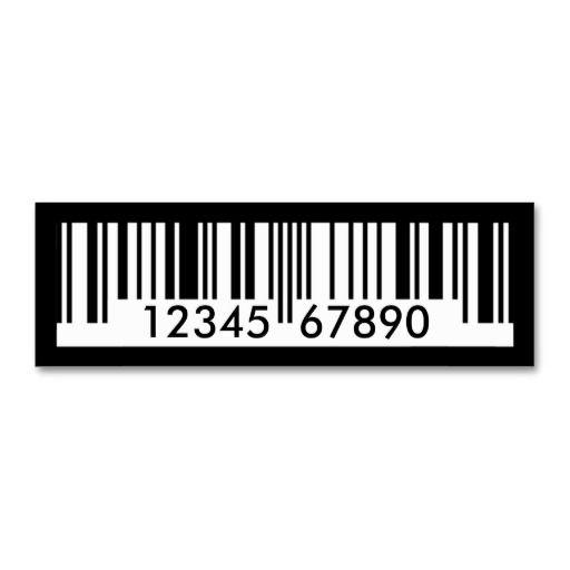 Barcode Mini Business Card Zazzle Co Uk Unique Business Cards Cool Business Cards Printing Business Cards