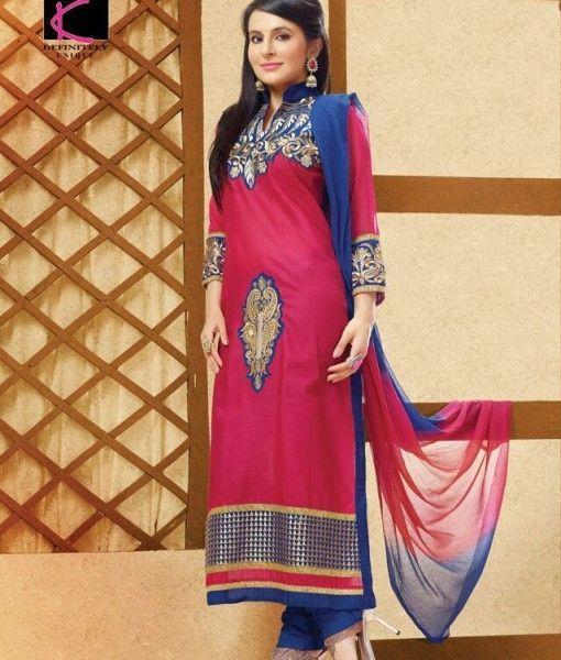 Astounding Pink Cotton Salwar Kameez Buy Online Krishna Emporia (1)