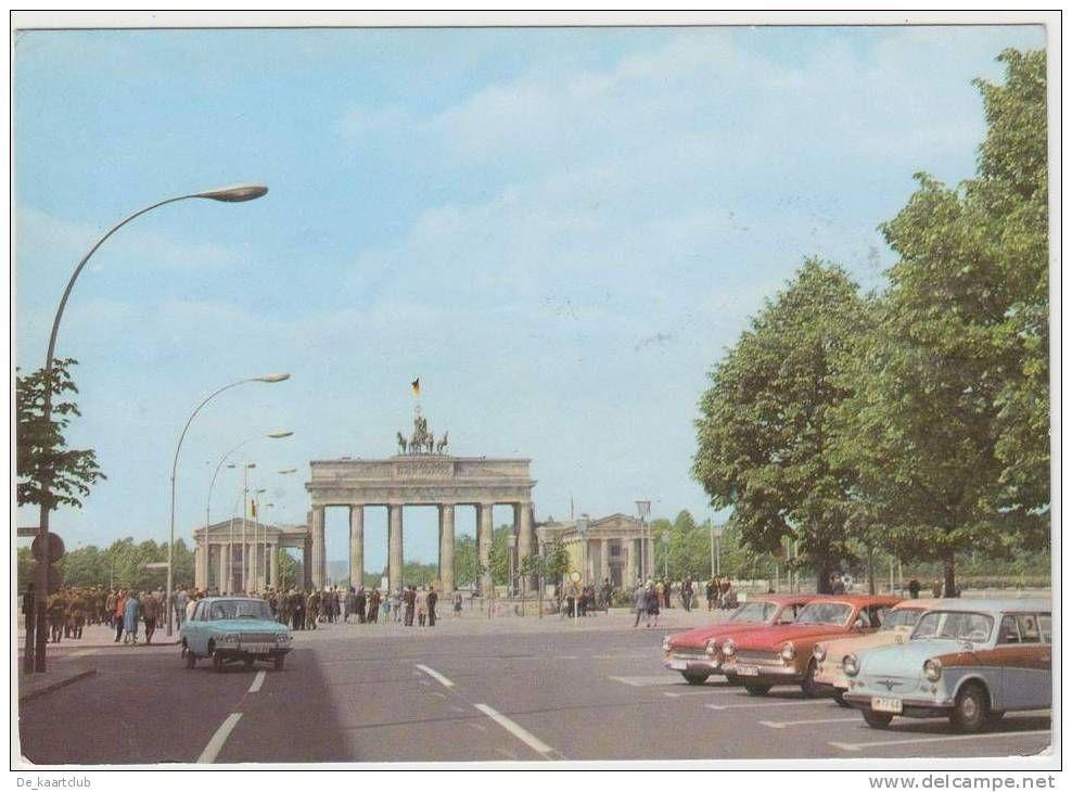 Berlin Ddr Unter Den Linden 2x Trabant 600 2x Wartburg 312 353 Brandenburger Tor 2x Ddr Stamp Timbre For Sale On Delcampe Berlin Berlin Wall Wartburg
