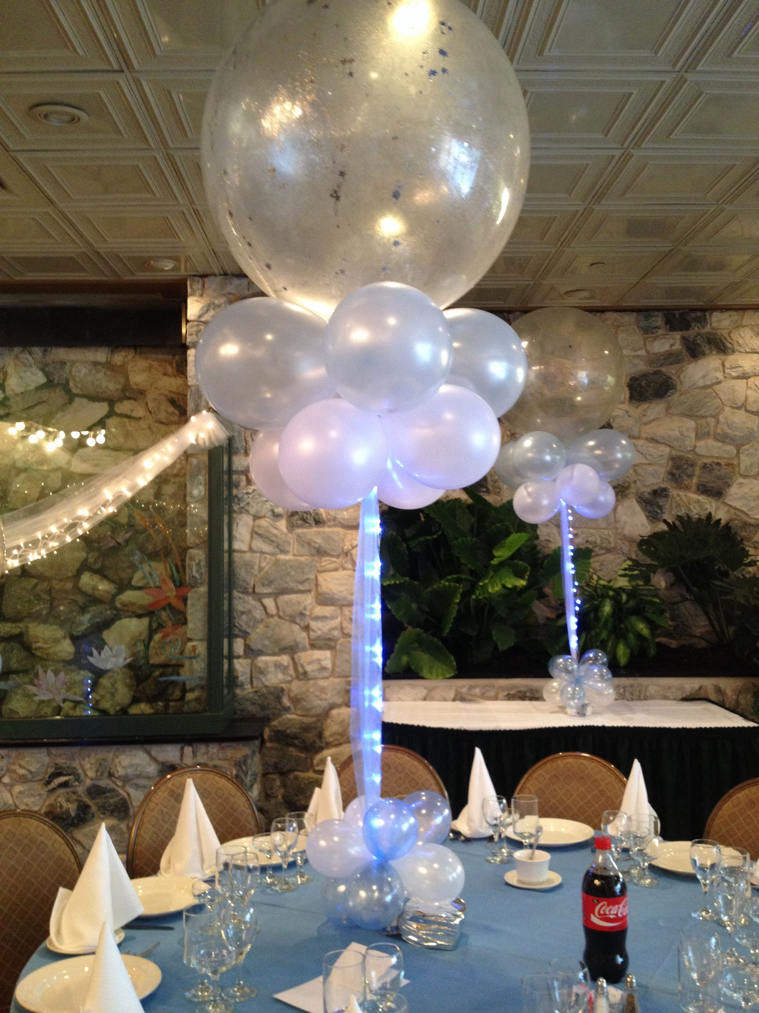 Balloon centerpiece balloon decorations pinterest for Balloons arrangement decoration