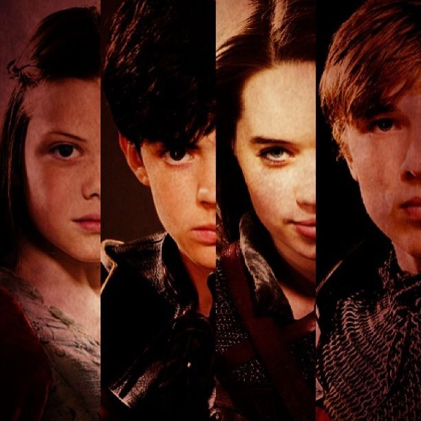 Love this picture of the pevensie children