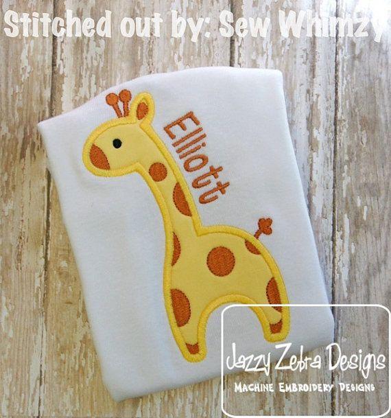 Giraffe with Spots Applique Design by JazzyZebraDesigns on Etsy
