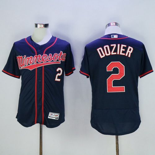 mens minnesota twins 2 brian dozier navy blue 2016 flexbase majestic baseball jersey