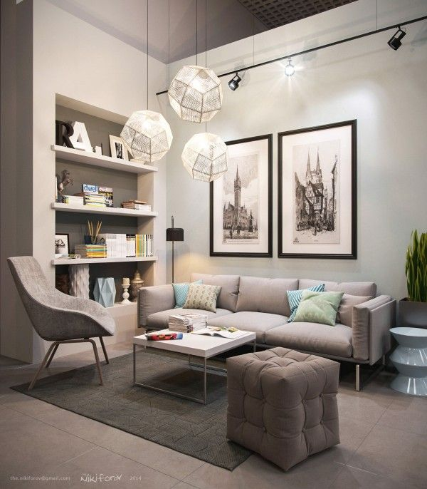 21 Relaxing Living Rooms With Gorgeous Modern Sofas Small Modern Living Room Small Living Rooms Small Living Room Layout