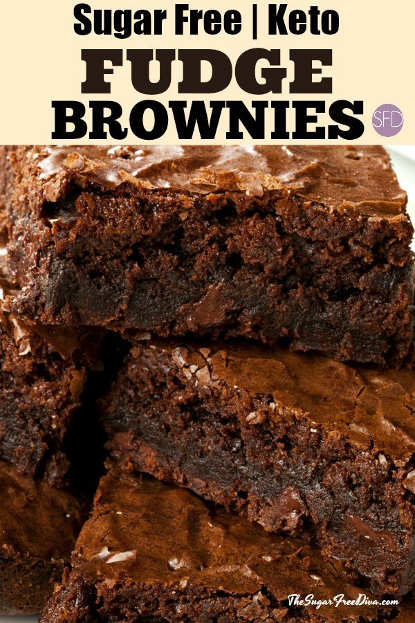 Keto Sugar Free Brownies #keto #lowcarb #brownies #sugarfree #recipe #fudge #ketodesserts