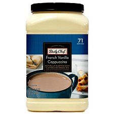 Daily Chef French Vanilla Cappuccino Beverage Mix 2 3lb French Vanilla Cappuccino French Vanilla Flavored Drinks