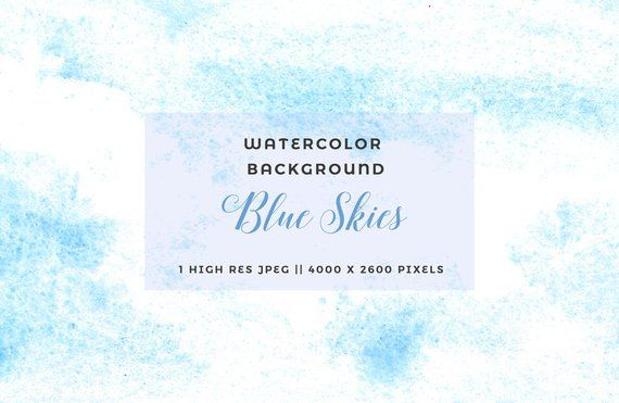Watercolor Sky Clipart Abstract Background Light Blue