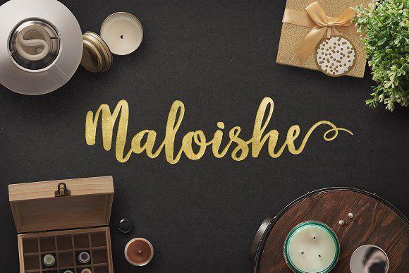 Download Maloishe Brush Script Font   Шрифты типографии, Шрифты ...