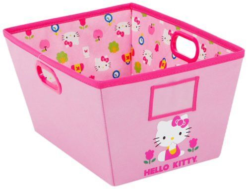Hello Kitty Large Storage Bin with Handles and ID Badge Slot (Pink)