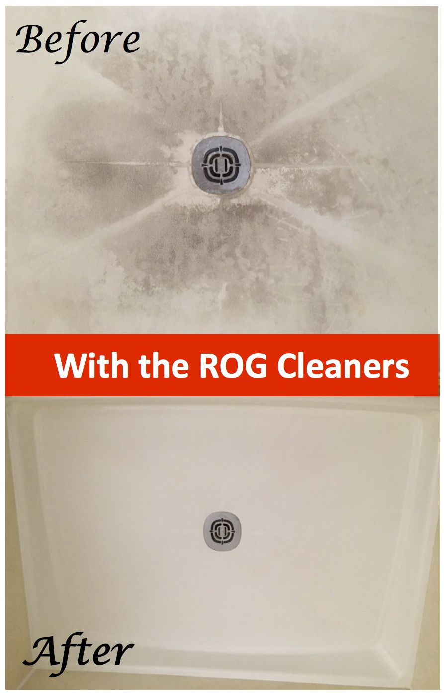 My fiberglass shower base now looks like new 20 years and internet cleaning a fiberglass shower base to look like new using our new favorite cleaning product the most popular cleaning story to date dailygadgetfo Images