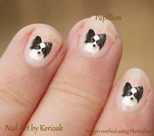 papillon dog nail art