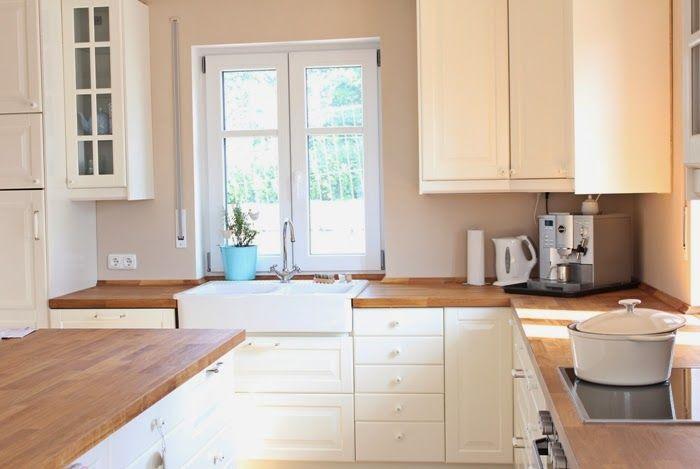 Wir bauen ein Haus Kleiner Einblick in unser Wohnzimmer und Küche - wohnzimmer rosa beige