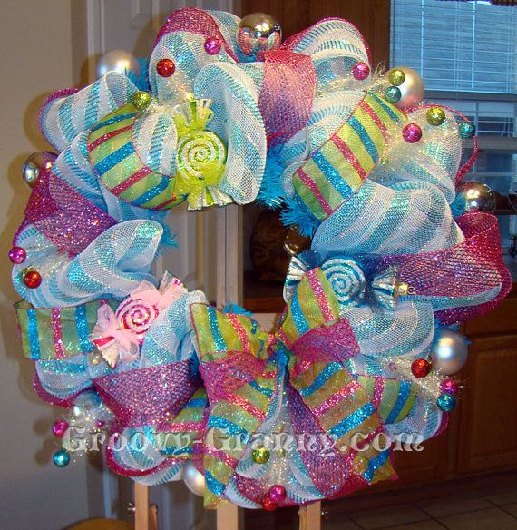 Candyland Christmas Door Decoration Ideas : Thoughts of whoville christmas wreath by