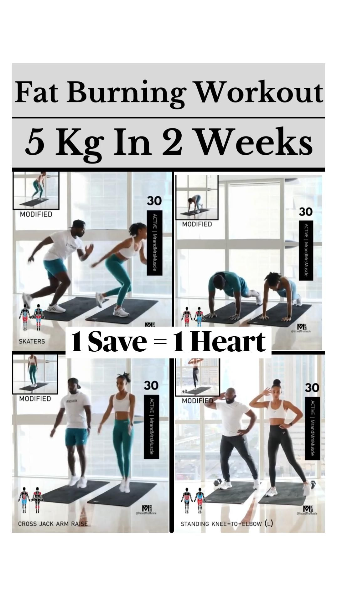 Easy Fat Burning Workout at Home Without Equipment  