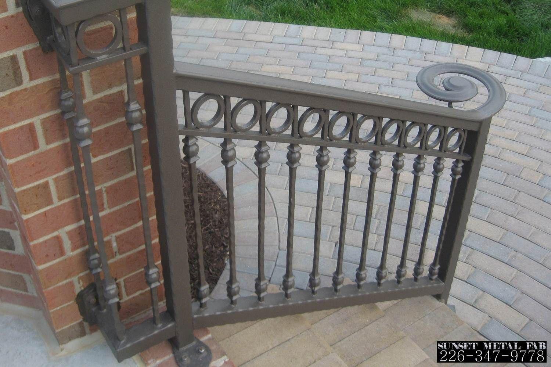 Railings Sunset Metal Fab Inc Wrought Iron Porch Railings Wrought Iron Handrail Iron Handrails