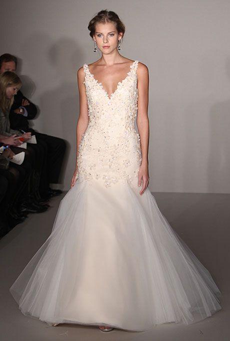 floral mermaid wedding dress