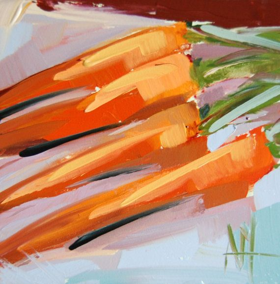 Hey, I found this really awesome Etsy listing at https://www.etsy.com/listing/229733913/carrots-in-a-row-original-still-life-oil