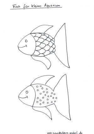 Schablonen/Schablone-kleines-Aquarium-Fisch | Thema wasser ...